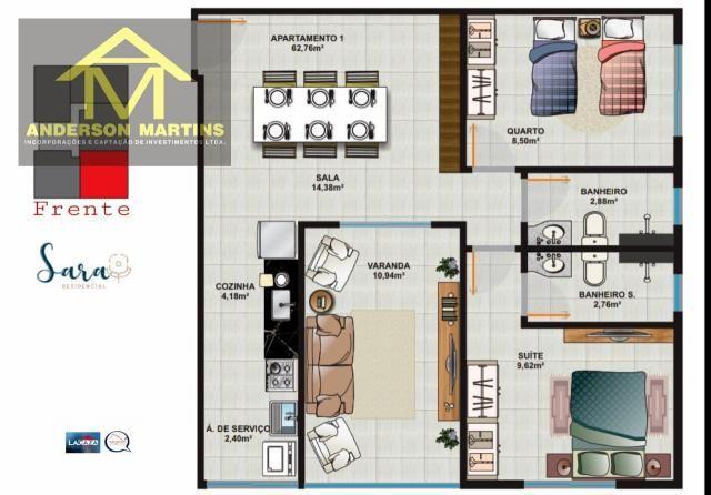 Apartamento à venda com 2 dormitórios em São geraldo, Cariacica cod:14888 - Foto 8