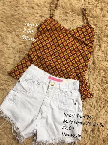 Varias roupas (Vestidos/Shorts/blusas)