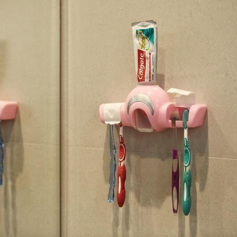 Dispenser para Creme Dental e Porta Escovas REF 2860 - Foto 2