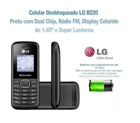 Celular Simples Modelo Lg B220 Original Ligação, Radio, Dual Chip - Foto 2