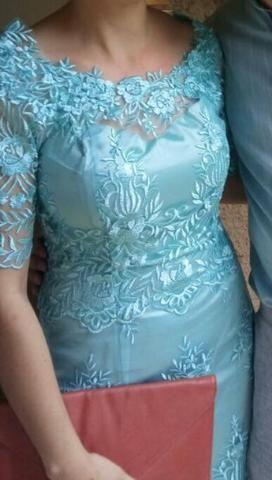 Vestido de festa Azul Tiffany - Foto 2