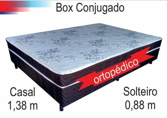 Cama box casal acoplada base e colchão com espuma de 7 cmts - Foto 4