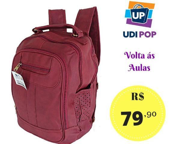 2d7510e3f4a20 Mochila Feminina Couro Sintético Notebook Escolar - Bolsas, malas e ...