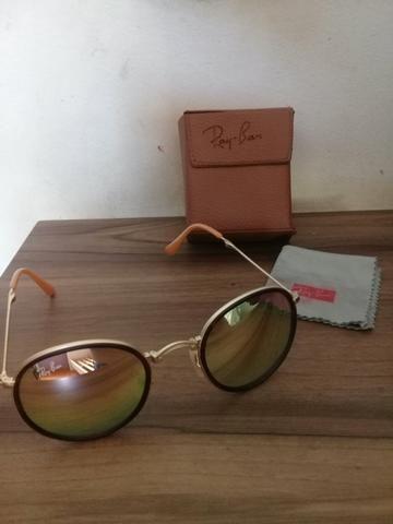 Óculos Ray Ban Round Dobrável Original - Bijouterias, relógios e ... a1bee74089