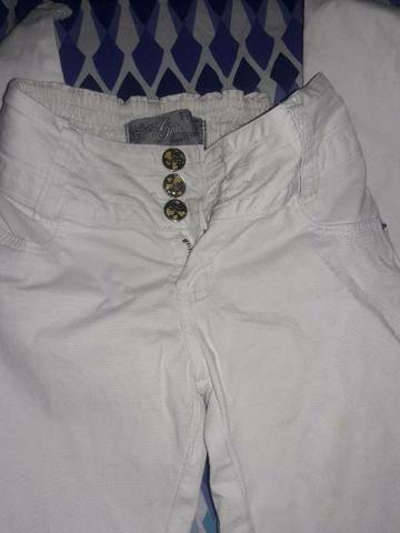 Linda calça branca com elástico na cintura. 36/38 - Foto 2