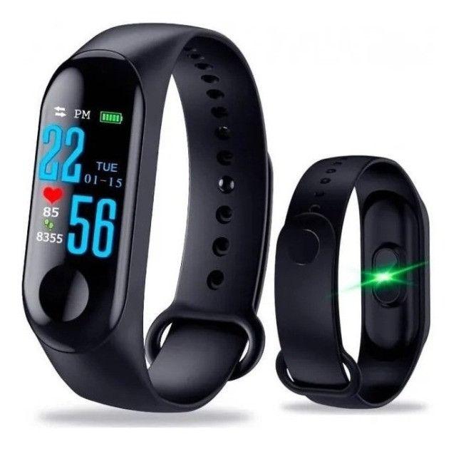 Relógio bracelete inteligente M3 promoção pronta entrega - Foto 2