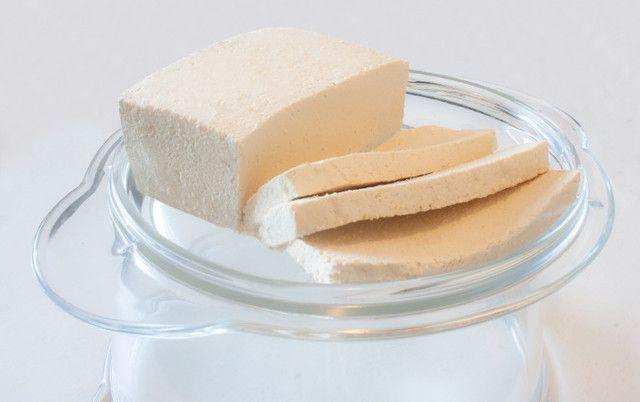 Tofu Tradicional Caseiro (queijo de soja) - R$ 10,00 500g