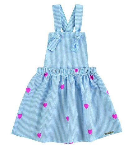 Vestido Bebê Menina Jardineira Infantil Roupa Bebê Feminina - Foto 2