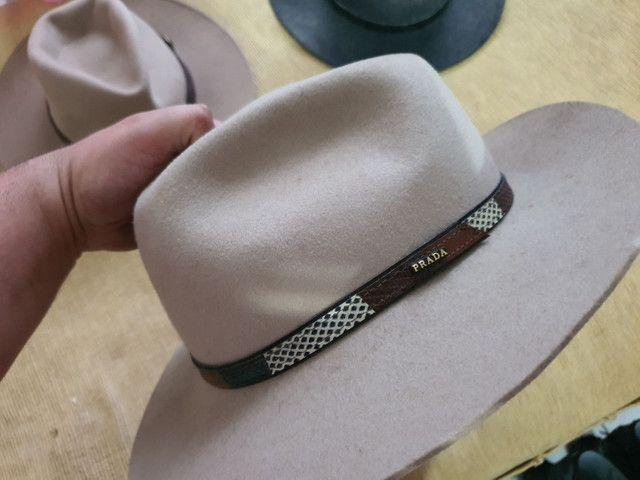 Torro 3 chapéus Prada originais R$ 150,00 - Foto 4