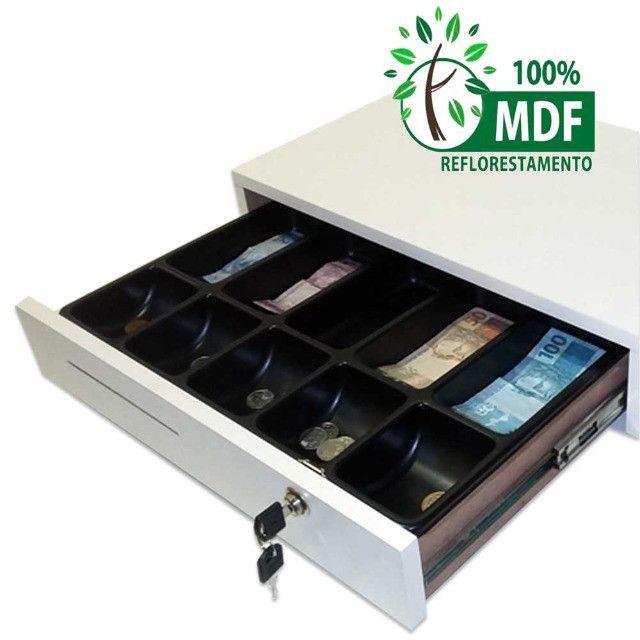 Nova caixa gaveta com separador de notas moedas chave e boca de lobo