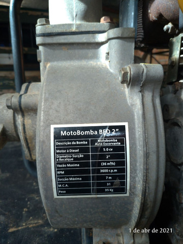 Motor bomba 5.0 cv - Foto 2