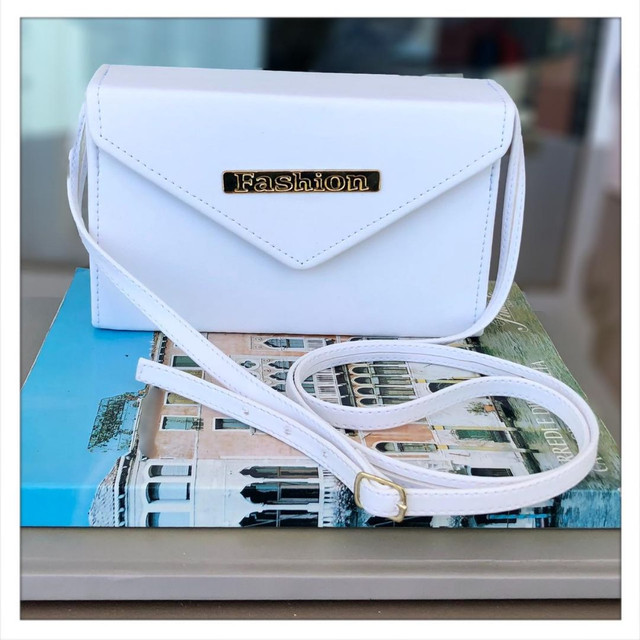 Bolsa Transversal Envelope Branca