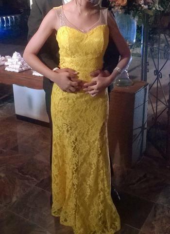 d1309eb53c Vestido festa amarelo - Roupas e calçados - Jaraguá