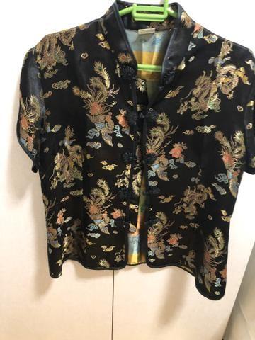 Blusa de seda japonesa