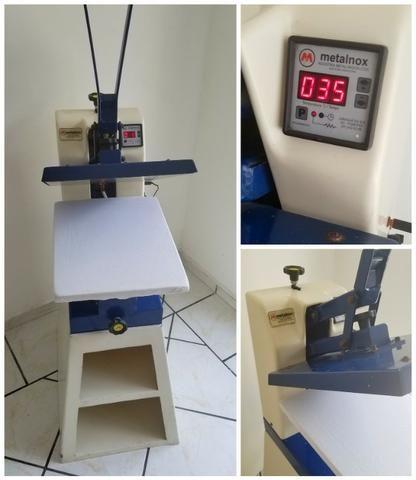 Prensa térmica manual, Metalnox 35x45cm, 220v** BASE. Usada. Funciona perfeitamente - Foto 2