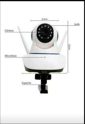 Câmeras para segurança via Wi-Fi, visão noturna e gira 360° - Foto 2