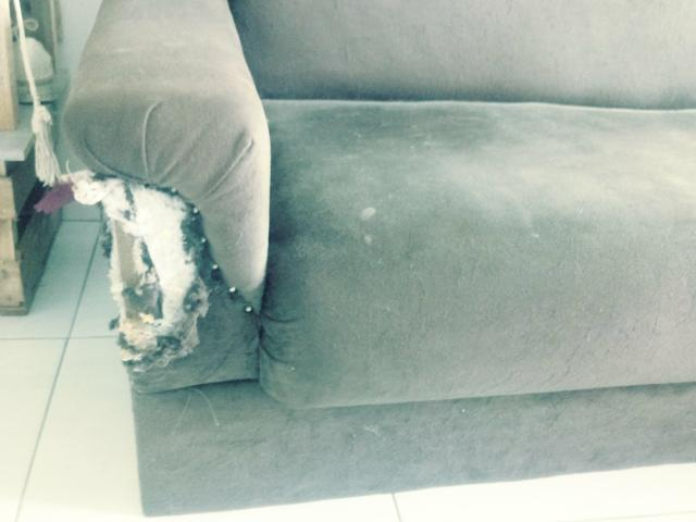 Sofa e puff para doação - Foto 3
