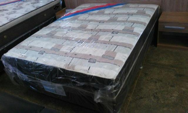 Cama box casal acoplada base e colchão com espuma de 7 cmts - Foto 3