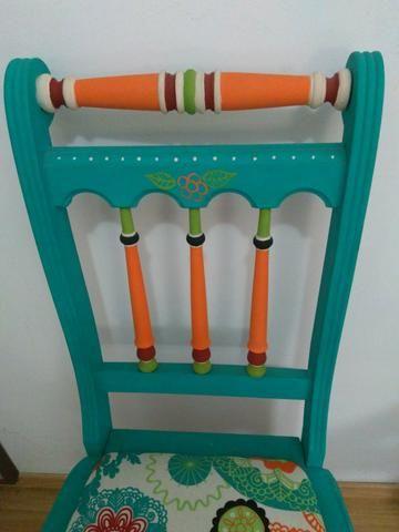 Cadeira antiga restaurada - Foto 5