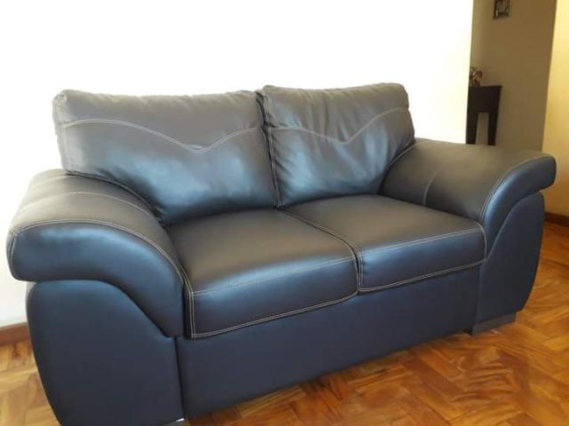 Sofa Corino Preto - Foto 3