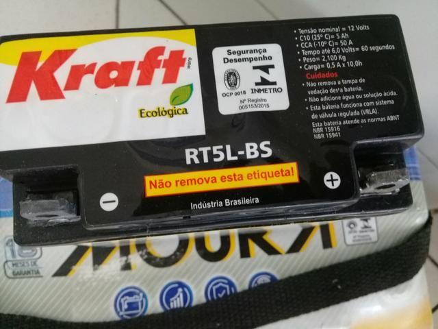 Bateria Moto Kraft 5Ah Crypton /XTZ125/Super100/Traxx Star50, Sky110 - Foto 2