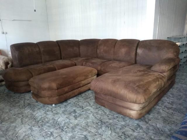 Sofá de canto c/ puff e chaise - 2,90 x 2,50 - entrego! - Foto 5