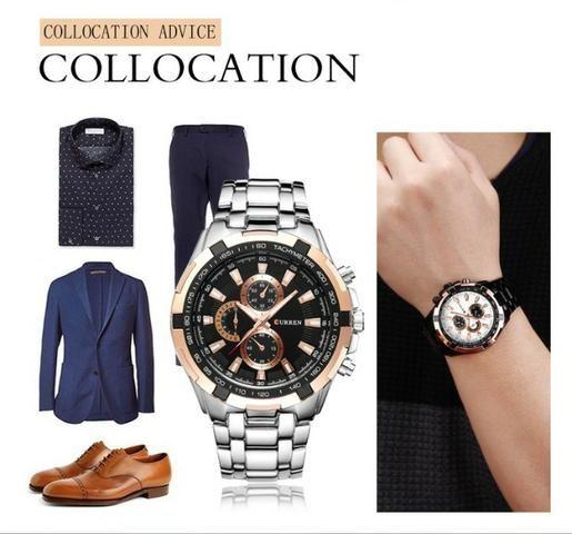Relógio Masculino Silver Curren® - Original - Foto 3