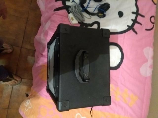 Vendo caixa de som Com entrada USB,Bluetooth microfone novinha pouco uso - Foto 3