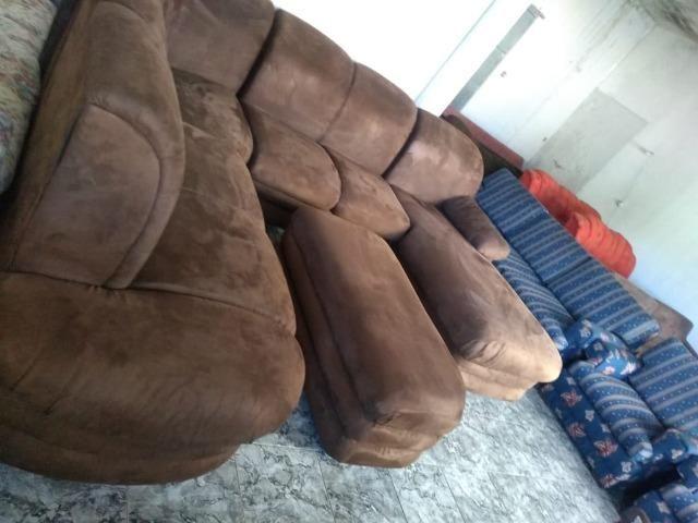 Sofá de canto c/ puff e chaise - 2,90 x 2,50 - entrego! - Foto 2
