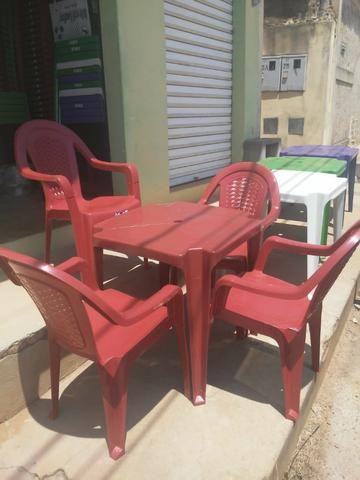 Imperdível- Conjunto de mesa c 4 cadeiras resistente - Foto 5