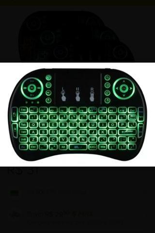 Mini teclado com led pra TV box pra PC notebook - Foto 2