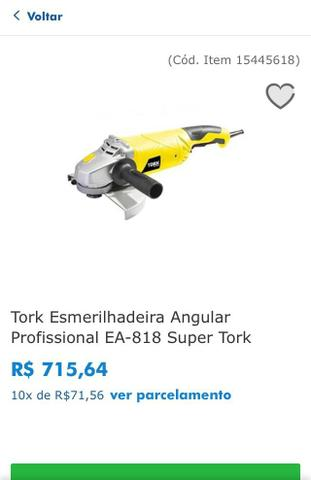Esmerilhadeira Profissional Angular 7? Super Tork EA 818 - Foto 3