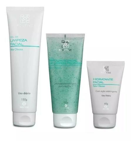 Gel de Limpeza Facial Routine + Hidratante Facial + Gel Esfoliante - Foto 2