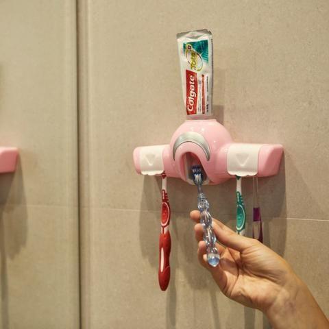 Dispenser para Creme Dental e Porta Escovas REF 2860