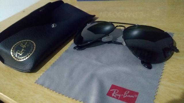 Óculos de sol Ray Ban Aviador Preto Masculino Original - Em ótimo estado b52761726b
