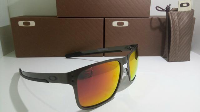 aa2b060e072c3 Óculos de sol Oakley vermelho lentes polarizadas - Bijouterias ...