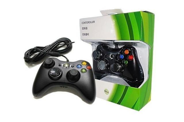 Controle Com Fio Xbox 360 E Pc -( Loja na Cohab ) Total Segurança Em sua Compra