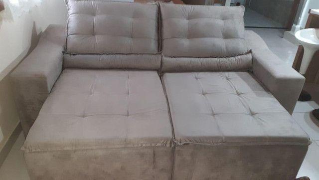 Sofá Hellen retrátil e reclinável com frete GRÁTIs para o ES - Foto 3