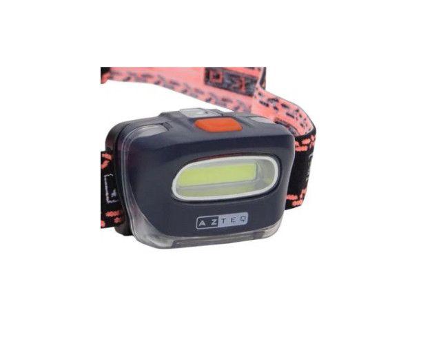 Lanterna de cabeça Azteq kashina tecnologia cob potente em curta distância - Foto 5