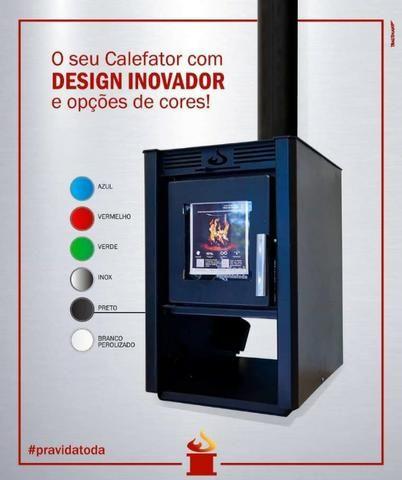 Calefator dupla combustão com ventilação forçada
