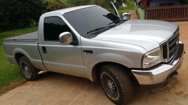 Vendo ou troco F250 XLT turbo diesel mwm 4.2 - Foto 4