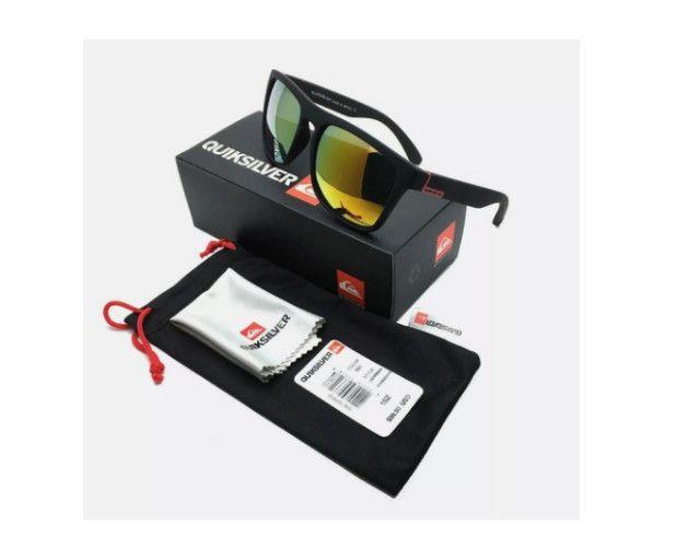 Óculos De Sol Quiksilver Com Proteção Uv400 + Bag + Flanela - Foto 5