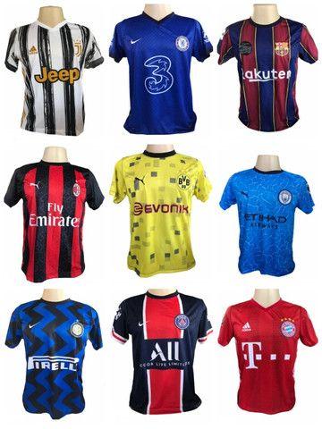 Kit 09 Camisas De Times De Futebol (bordada) Europeu!