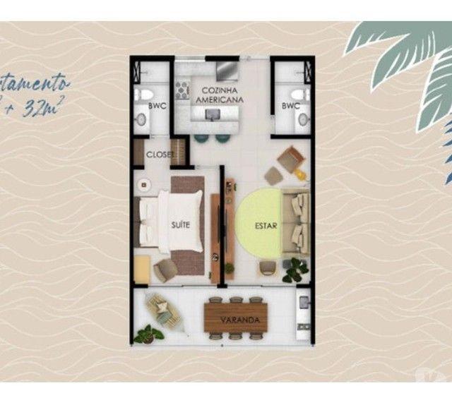Flat para venda possui 32 metros quadrados com 1 quarto em Muro Alto - Ipojuca - PE - Foto 10