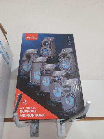 Caixa de Som Bluetooth Portátil Usb SD entrada pra microfone - pra notebook Pc e celular - Foto 3