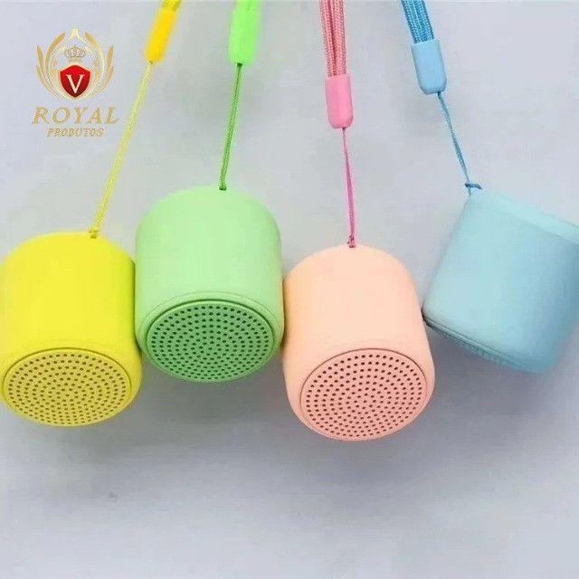Mini Caixa De Som Inpods Little Fun Macaron Portátil Bluetooth - Foto 4