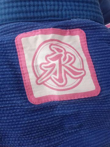 Kimono feminino A2 Keiko azul Quimono - Foto 4