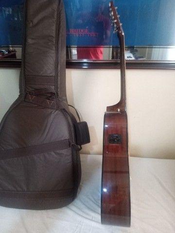 Violão Fender cc60 sce classic eletroacústico, afinador e capa de couro, novo - Foto 6