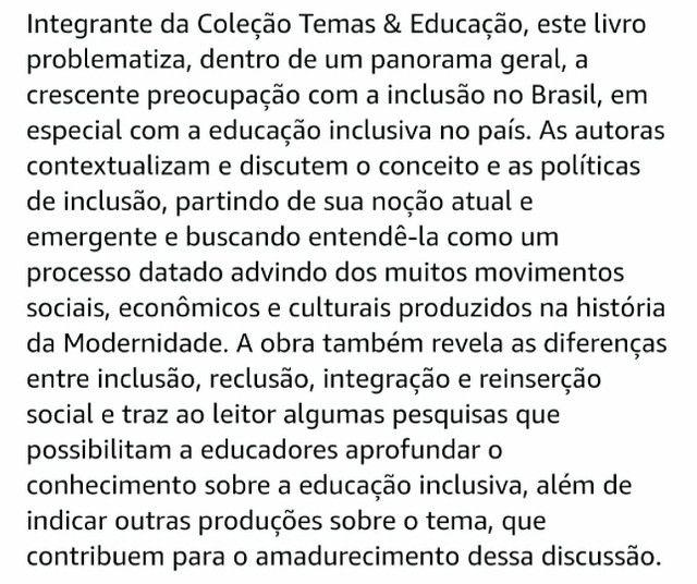 LIVRO INCLUSÃO E EDUCAÇÃO - Foto 3