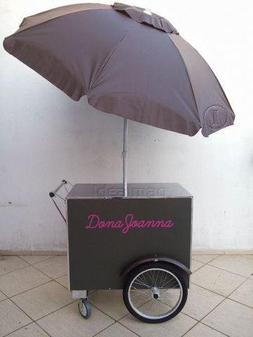Carrinho p/ doces, bolos e salgados  negócios delivery na garagem - Foto 4